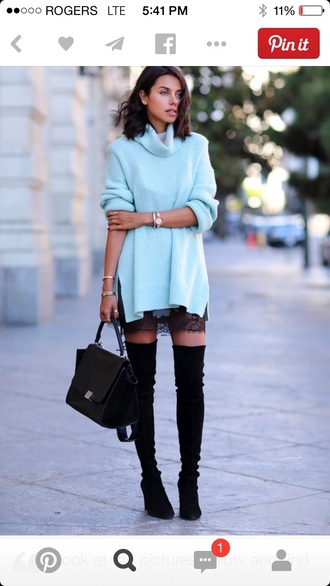 dress oversized sweater wool sweater blue dress pastel sweater turtleneck sweater pastel blue oversized turtleneck sweater