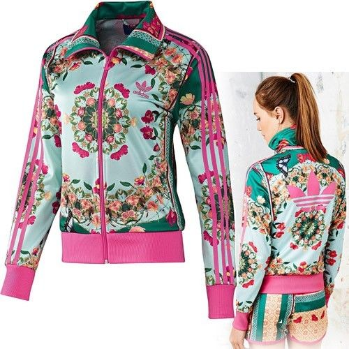 Adidas Originals FLORALINA BORBOFLOR TRACK TOP JACKET Farm X FIREBIRD Medium M S
