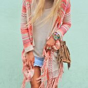 cardigan,cloths,ibiza style,boho,hippie,bag,jewels,fringed bag,blouse,ring,skirt,bracelets,aztek,sweater,black and white,shirt,coachella,indie,bohemian,boho chic,girly,pale,gypsy,rosy,corall,strick,tied,knots,aztec,muster,like,coachella style,boho jacket,boho sweater,pink,white,cute outfits,beautiful jacket,blue,beige,pink aztec print,clothes,jacket