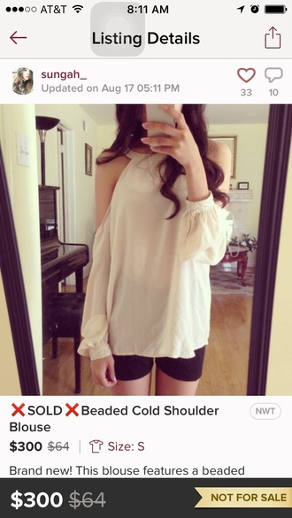 top white top off the shoulder chiffon blouse girly cute outfits cute top cute