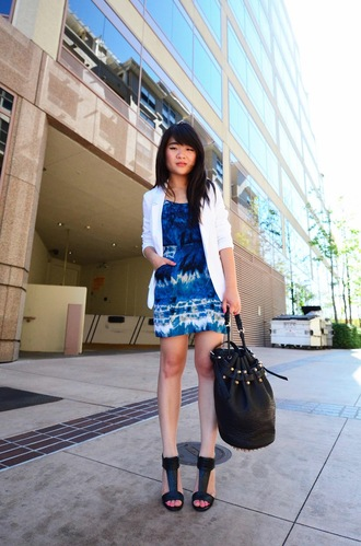 daily disguise dress jacket bag shoes