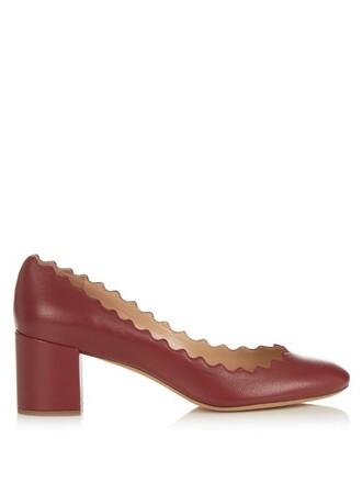 pumps leather dark dark red red shoes