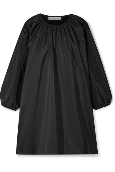 The Row - Sade oversized gathered silk-taffeta mini dress