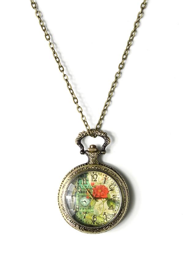 jewels big ben watch pendant necklace