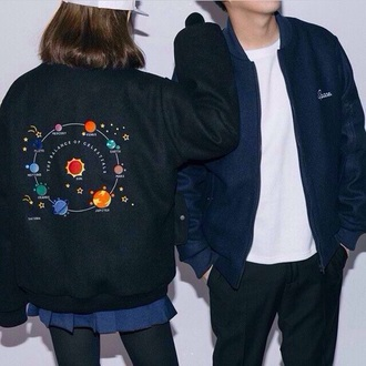 jacket space tumblr planets solar flare