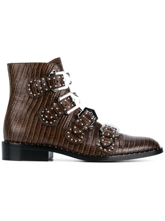 studded boots ankle boots brown shoes