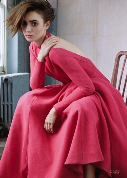 dress lily collins maxi dress