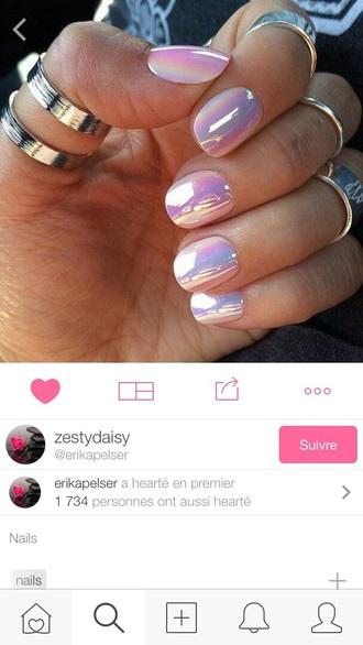 nail polish nail holographic