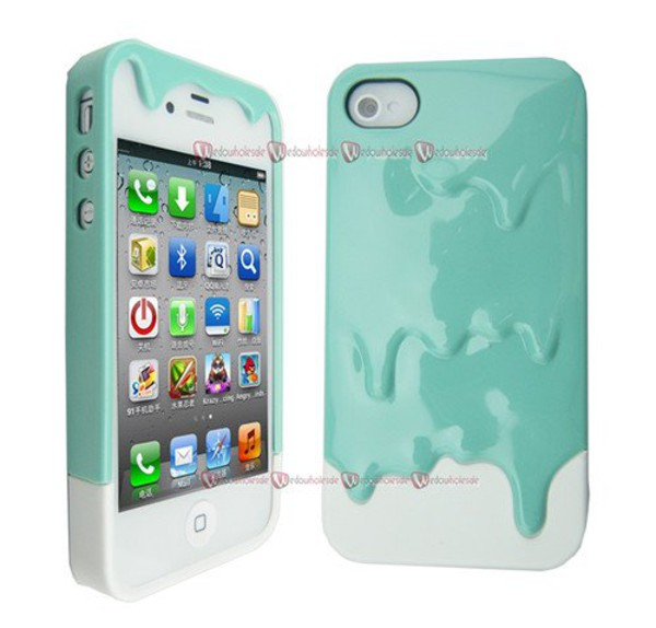phone cover dripping iphone iphone case mint chocolate turquoise
