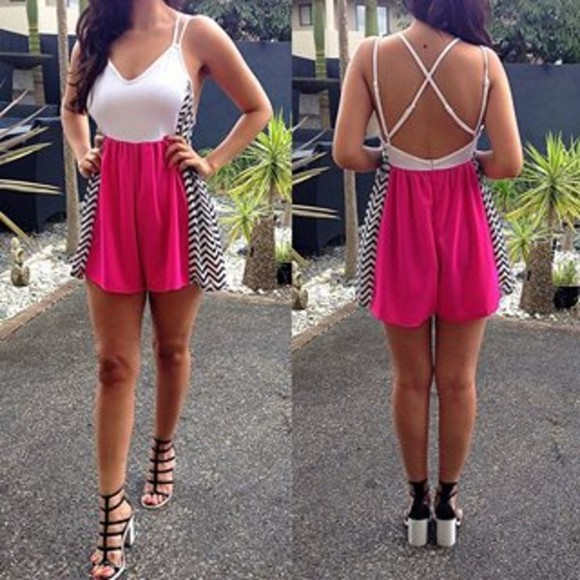 amazing pink dress jumpsuit beautiful sexy clubbing party shoes high heals