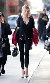 top,pants,pumps,jacket,charlotte mckinney,model off-duty,streetstyle,fall outfits