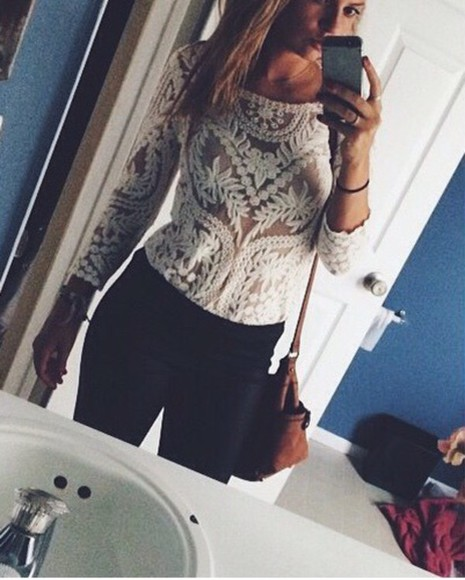 see through white crochet top crochet lace lace top