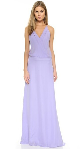 gown lilac dress