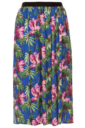 Hibiscus Spliced Midi Skirt - Topshop USA