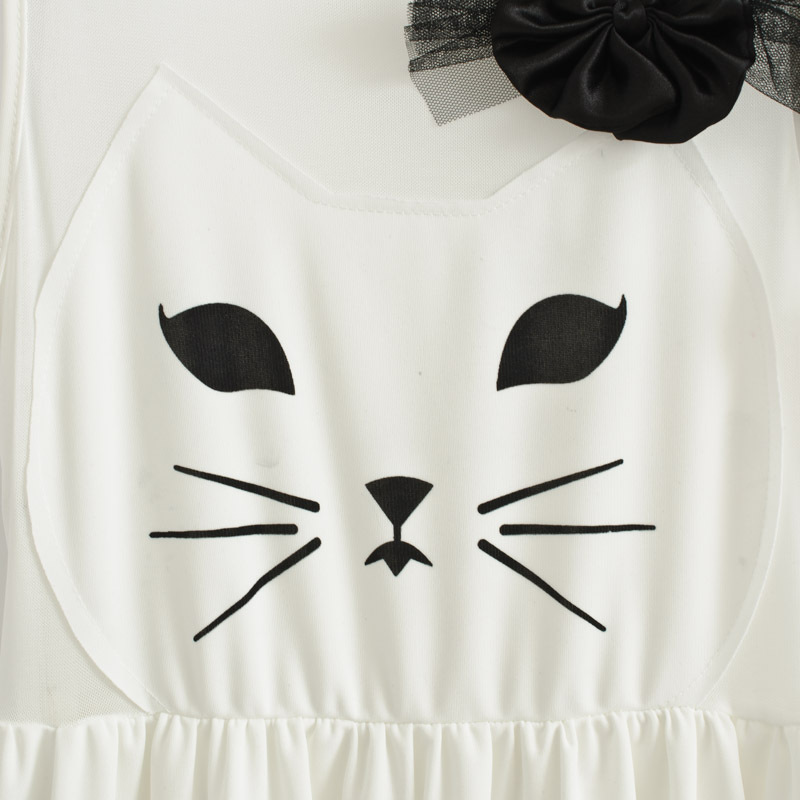Specials  Korean sweet princess kitty bow waist vest dress  women's sleeveless  plus size tank dress white one piece cat dress-inDresses from Apparel & Accessories on Aliexpress.com