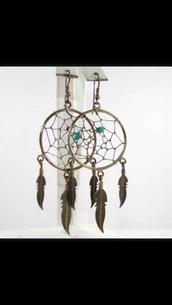 jewels,indian,indie,jewelry,dreamcatcher earrings,earrings,aztec,tribal pattern,tribal designs,fashion,feather earrings