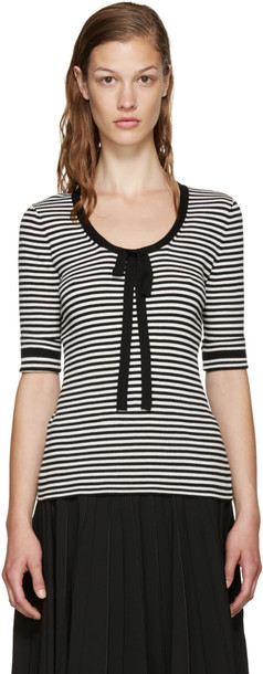Marc Jacobs sweater striped sweater white black black and white