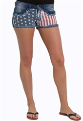 Machine Jeans American Flag Shorts DMG-1A1278