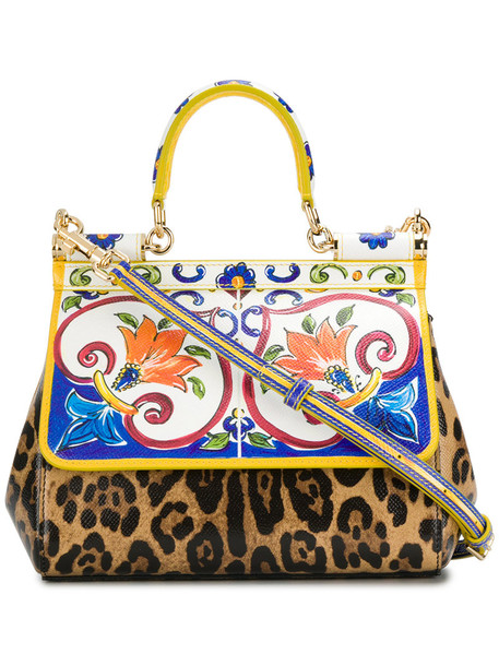 Dolce & Gabbana women leather print bag