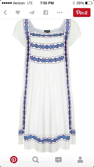 dress embroidered dress smock dress