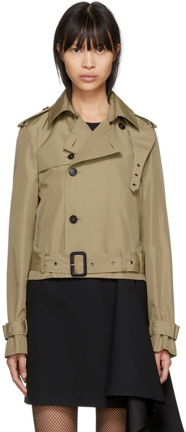 Saint Laurent coat trench coat cropped beige