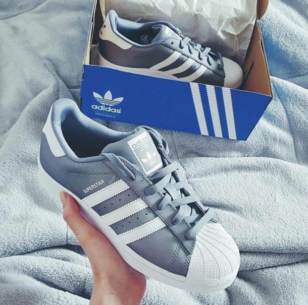 shoes adidas superstar grey white shell top adidas. Black Bedroom Furniture Sets. Home Design Ideas