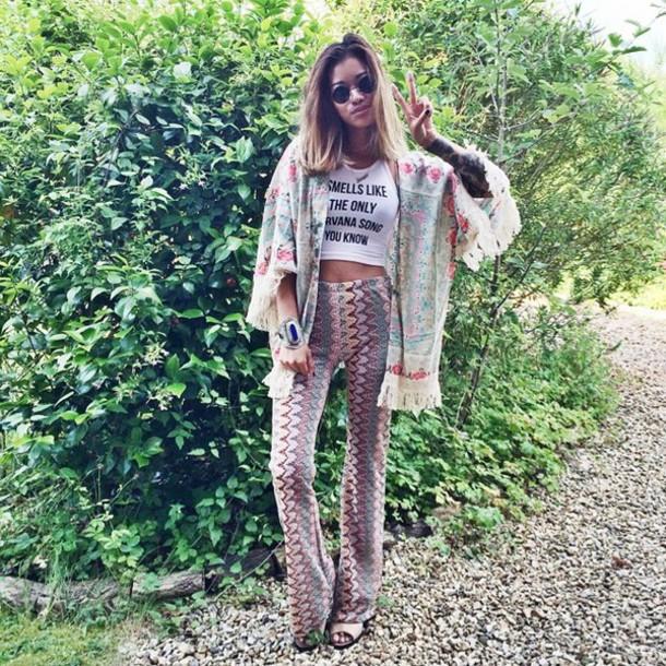 pants cute indie hippie hipster tumblr tumblr girl pattern
