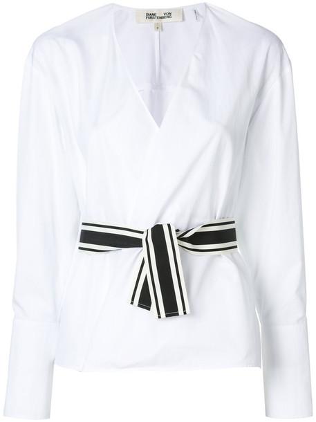 Dvf Diane Von Furstenberg blouse women white cotton top