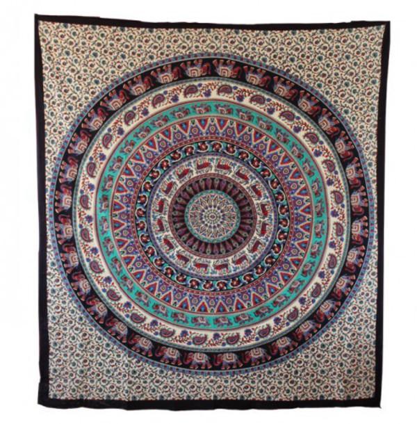 Elephant Circle Indian Mandala Tapestry   HandiCrunch.com