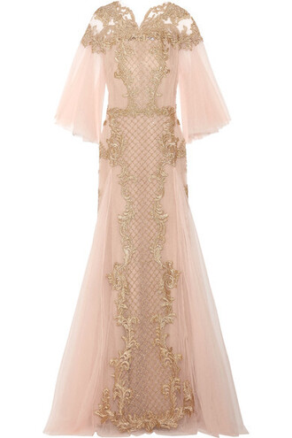 gown embroidered pastel embellished pink pastel pink dress