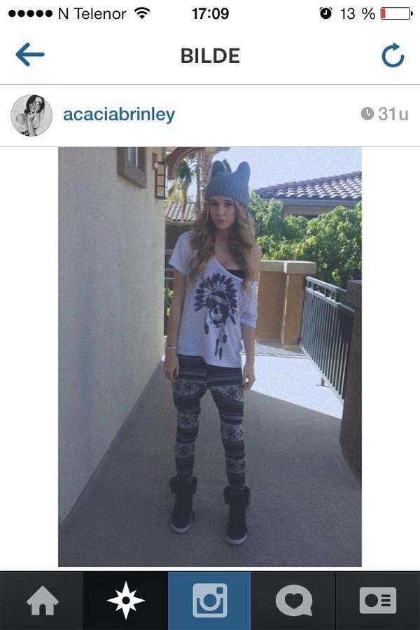 hat acacia brinley grey pants shoes