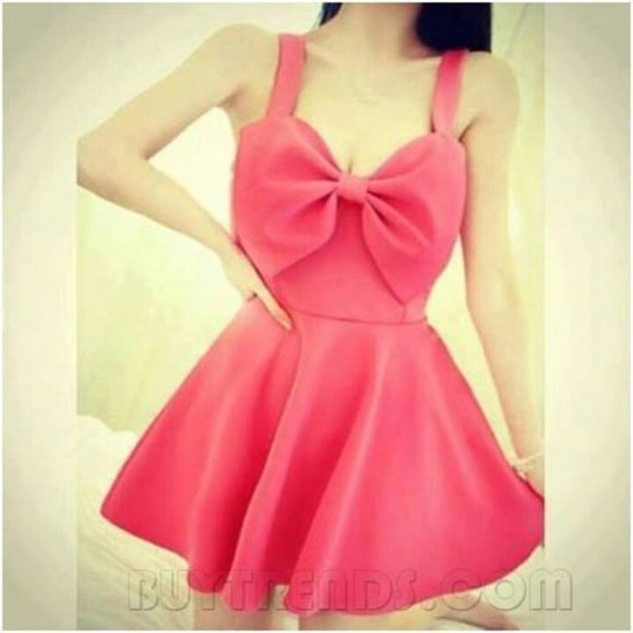pink dress bow dress dress