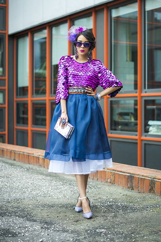 macademian girl top skirt shoes bag belt sunglasses jewels