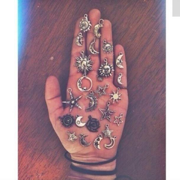 jewels jewelry silver necklace charms boho bohemian choker necklace diy pendant