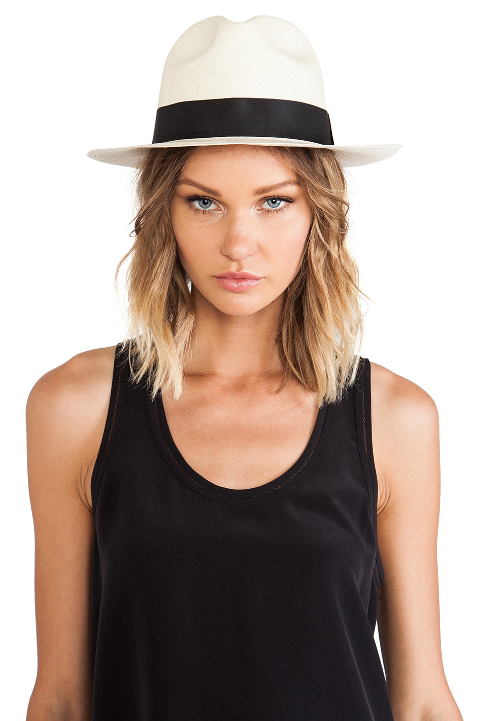 ANINE BING Panama Hat in Neutral from REVOLVEclothing.com