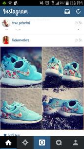 shoes,nike sneakers,peach,nike roshe run,nike,blue nike roche