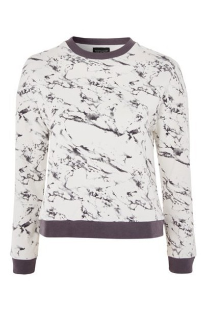 sweater print grey marble