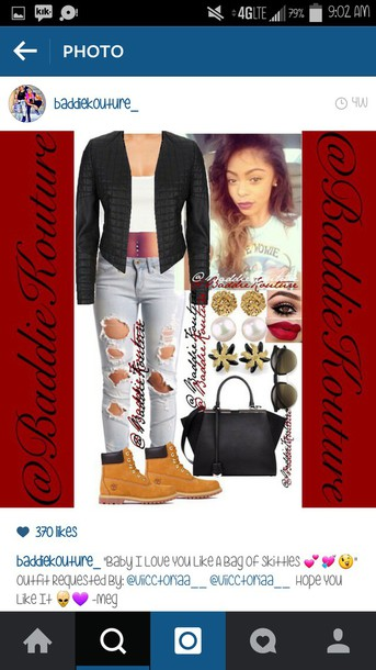 jeans outfit outfit outfit idea baddiekouture_