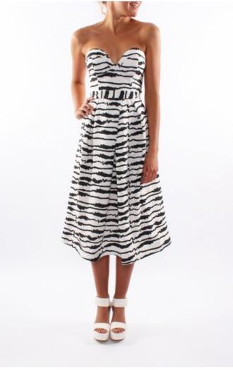 dress mini dress black and white dress