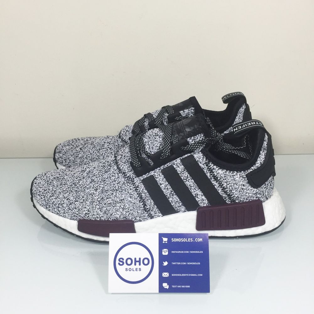 the best attitude c9c2e 7d201 ADIDAS NMD R1 CHAMPS EXCLUSIVE REFLECTIVE 3M - B39506 White Burgundy Black  Grey