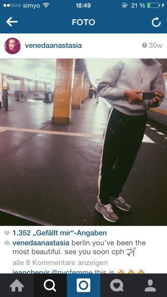 pants black jogging sporty