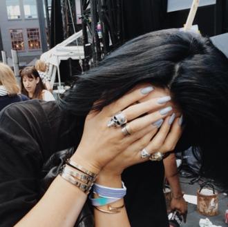 jewels kylie jenner kylie jenner jewelry ring skull ring bracelets