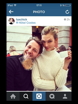 karlie kloss wool knitted sweater winter sweater turtleneck