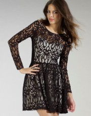 Lipsy Lace Skater Dress - Lipsy