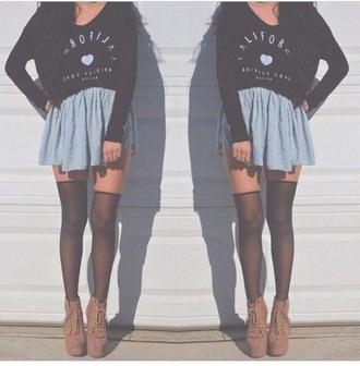 california skirt top heart