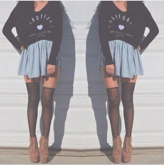 california top heart skirt
