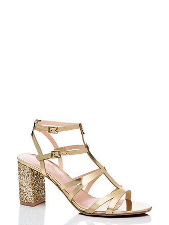 shoes sparkle gold gold sequins kate spade sandals strappy sandals