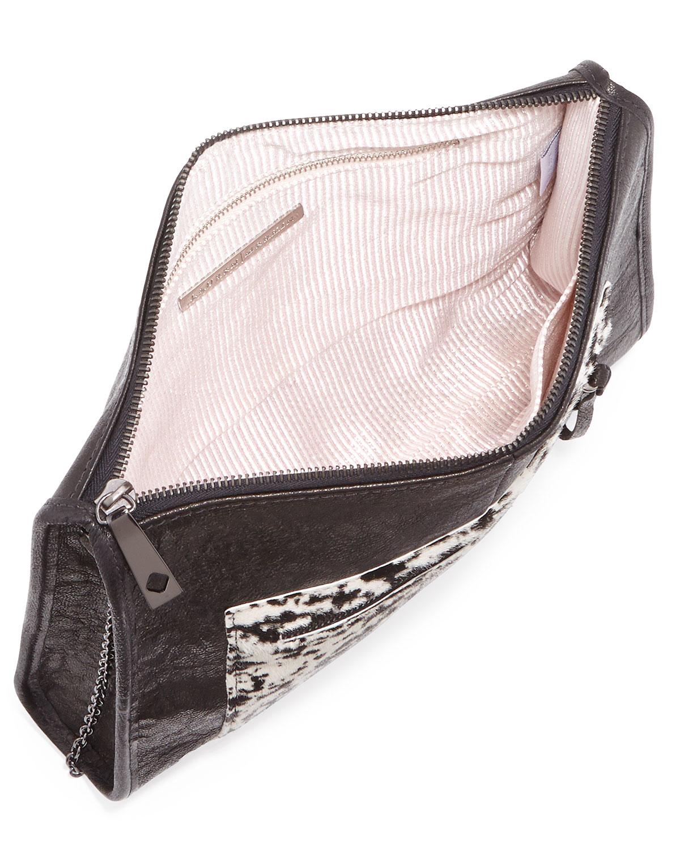 Cece Splatter Calf Hair Shoulder Bag
