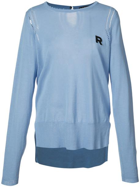 Rochas sweater women cotton blue