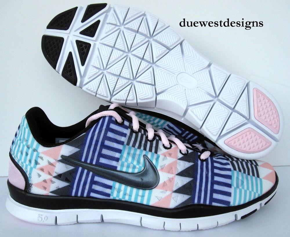Nike Free TR Fit 3 Print 7 5 Pink Black Aztec Leopard 3 0 5 0 Roshe Cheetah Run | eBay